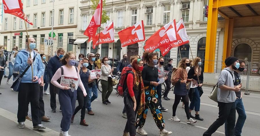 [Video] Sozialbereich-Demo 3.10.2020: Rede einer Betriebsrätin & Funke-Unterstützerin