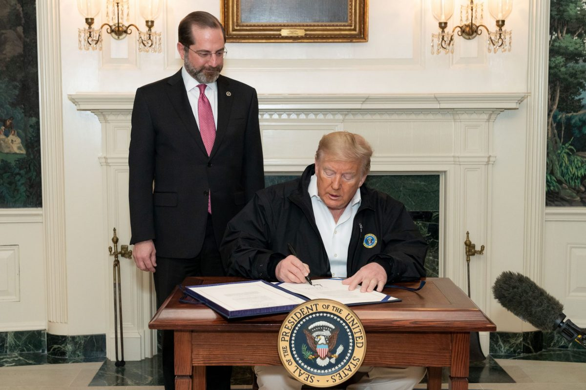 President Trump Signs the Congressional Funding Bill for Coronavirus Response 49627907646 scaled e1586877245226