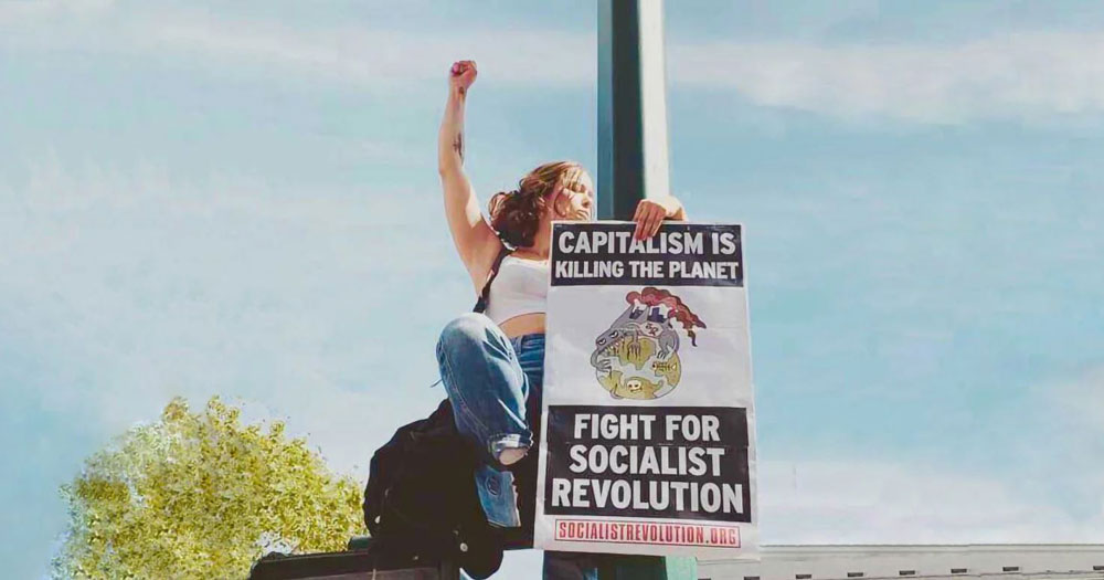 [VIDEO] Burn capitalism - not the planet